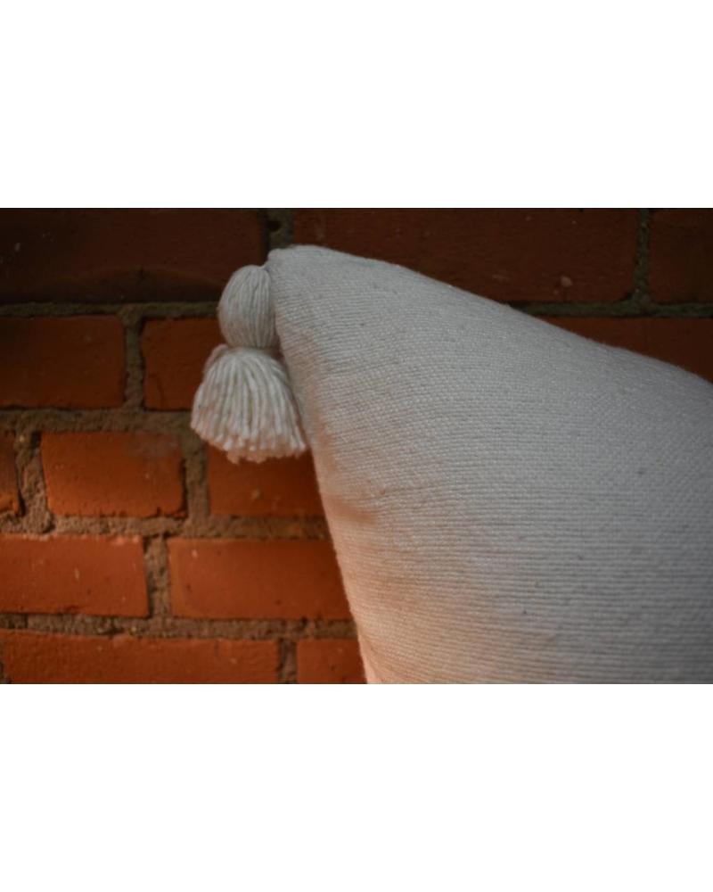"""Moroccan Pillow-Euro (26"""" x 26"""") - White"""