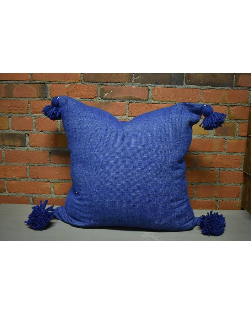 """Moroccan Pillow-Euro (26"""" x 26"""") - Navy"""