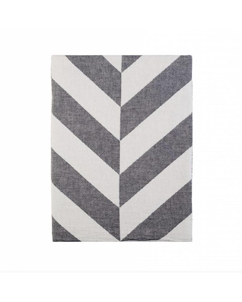 Fishbone bed cover 240x260 (Black)