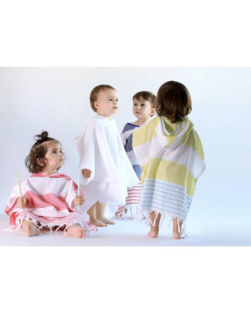 Kids Cocoon Poncho 7/8 (White)
