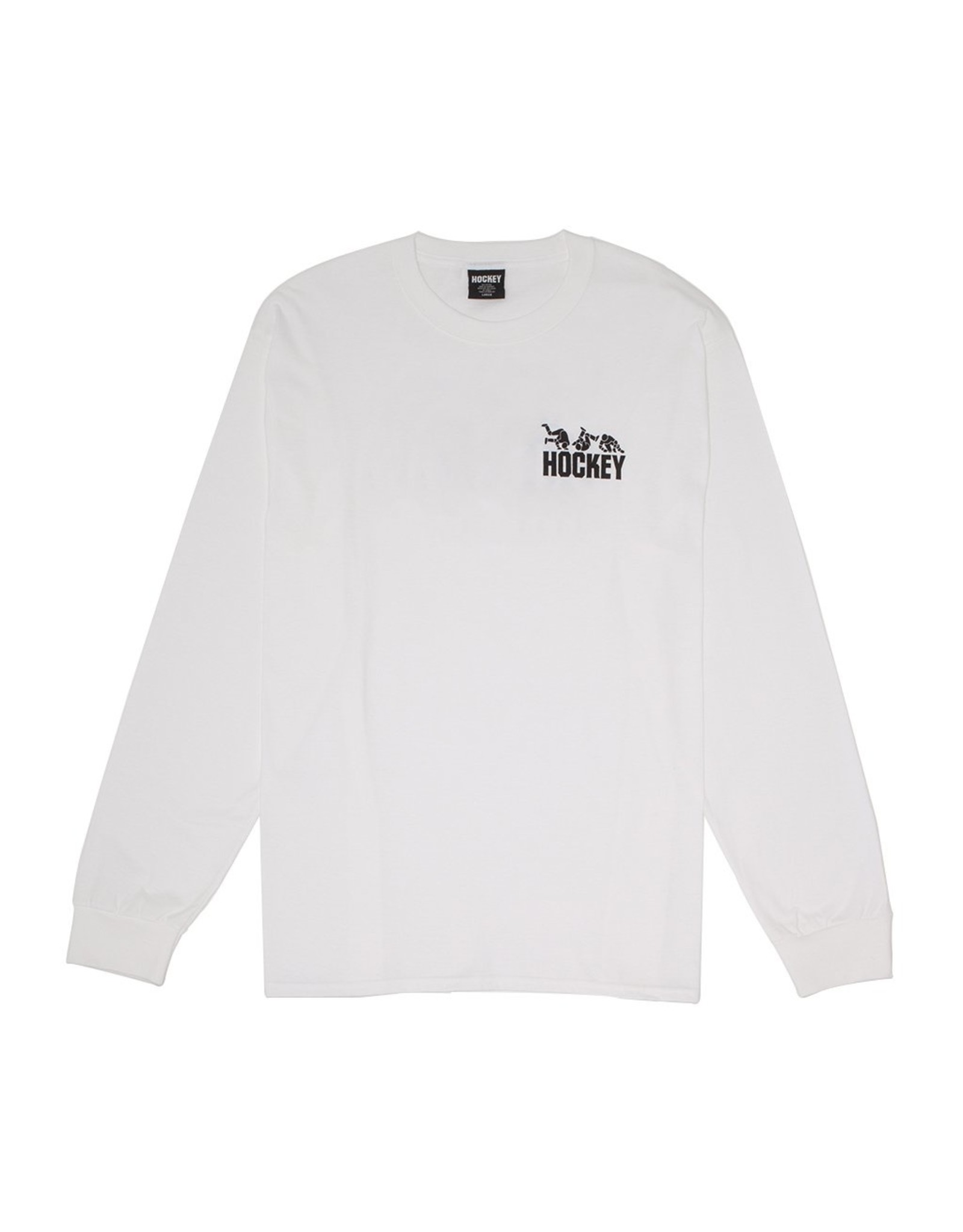 HOCKEY HOCKEY - FALL GUY LONGSLEEVE - WHITE