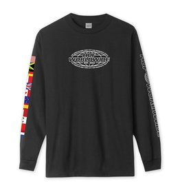 HUF HUF - WORLD TOUR L/S - BLK