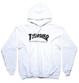 THRASHER THRASHER - SKATE MAG HOODIE - WHITE