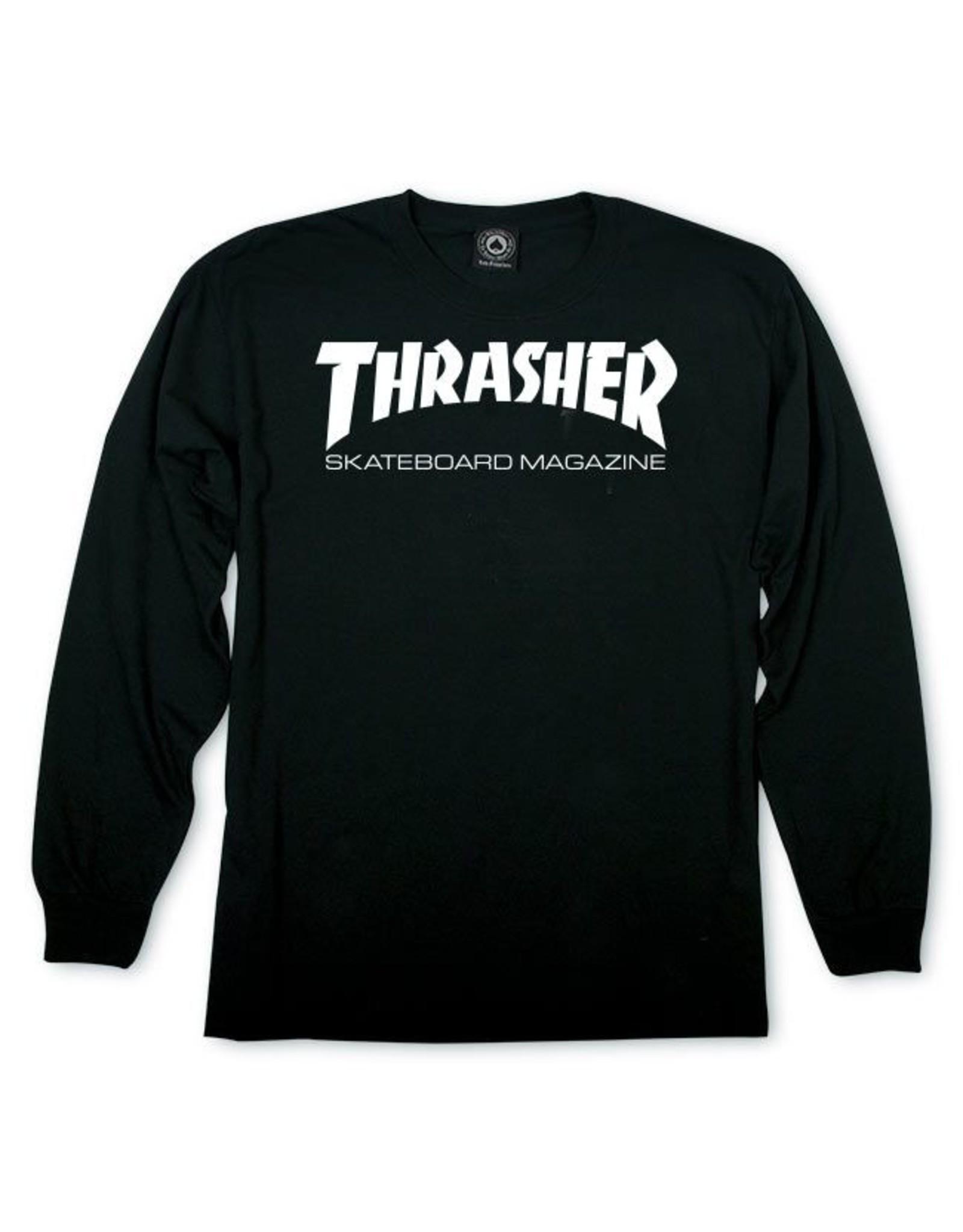 THRASHER THRASHER - SKATE MAG L/S - BLACK