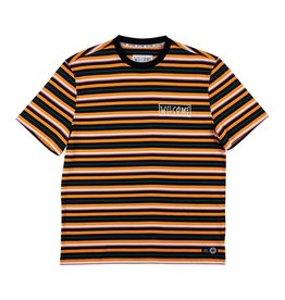 WELCOME WELCOME - SURF STRIPE TEE - CHED/BLK -