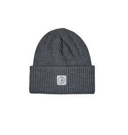 POLAR POLAR - DOUBLE ROLL MERINO BEANIE - GREY