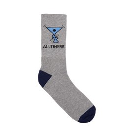 ALLTIMERS ALLTIMERS - ACTION LOGO SOCK - GRY/NVY