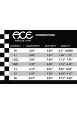 ACE SKATEBOARD TRUCKS ACE - 155 - RAW