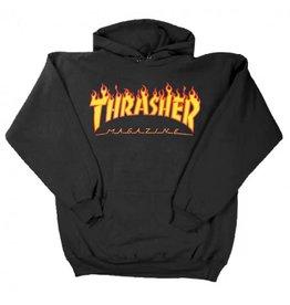 THRASHER THRASHER - FLAME LOGO HOODIE - BLK -