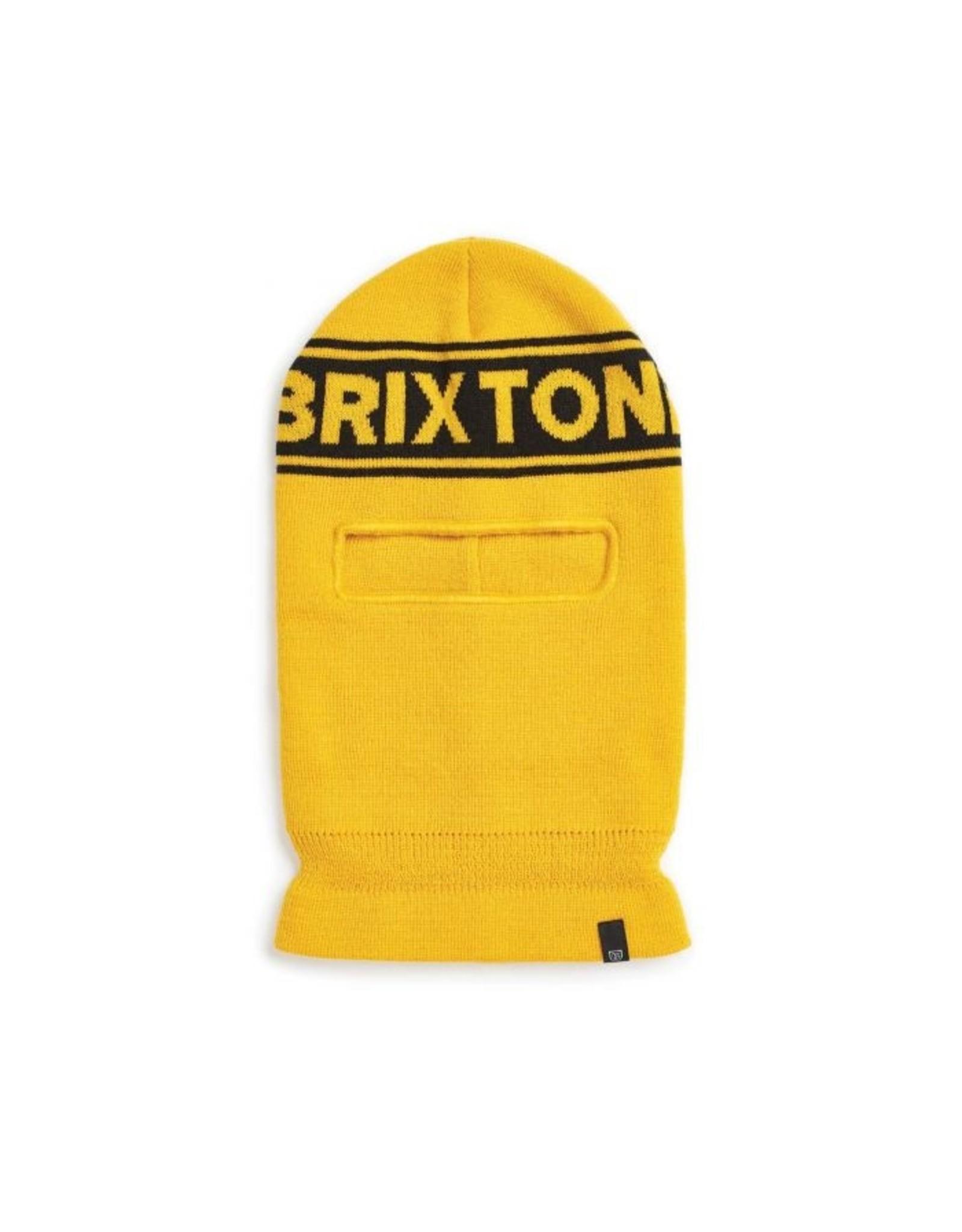 BRIXTON BRIXTON - SPROCKET FACE MASK - YELLOW/BLACK