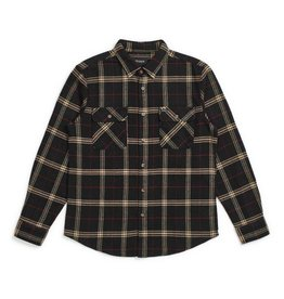 BRIXTON BRIXTON - BOWERY FLANNEL - BLK/IVORY -