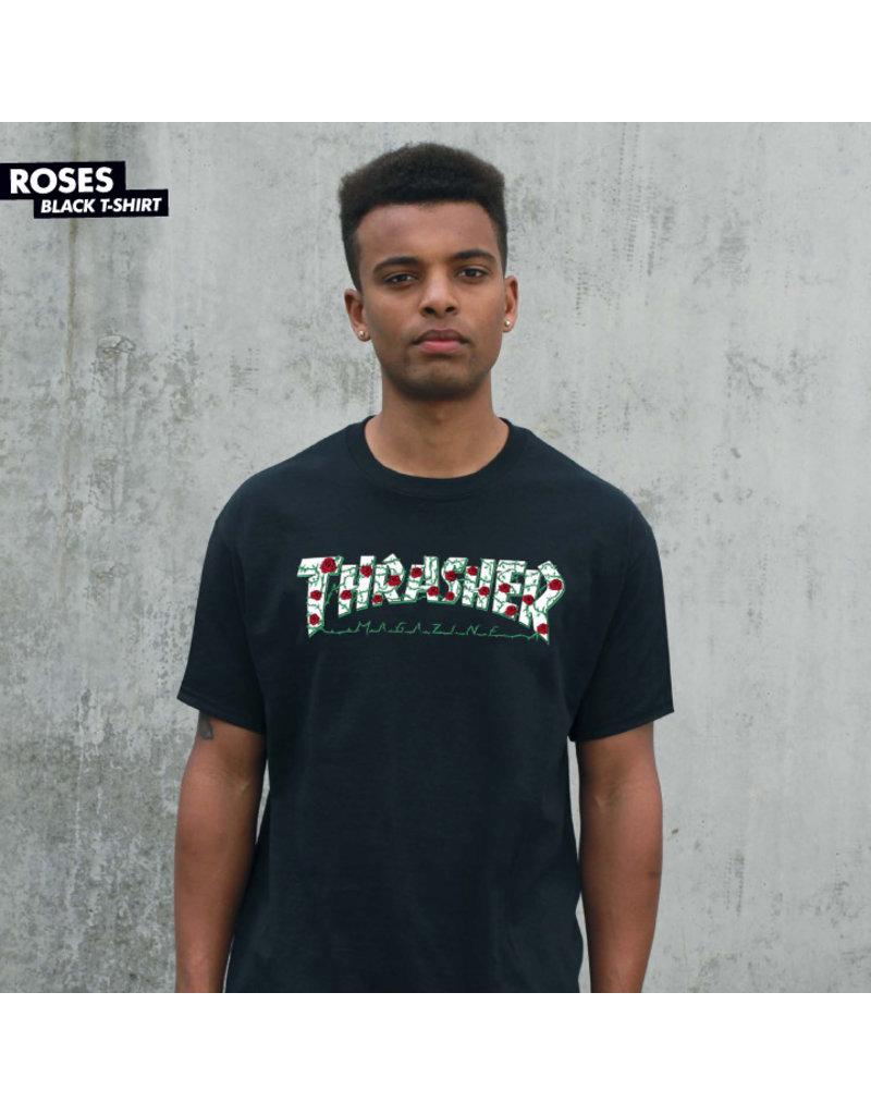 THRASHER THRASHER - ROSES TEE - BLACK -