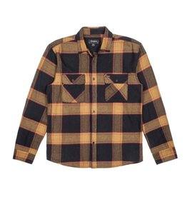 BRIXTON BRIXTON - BOWERY FLANNEL - BLK/GOLD -