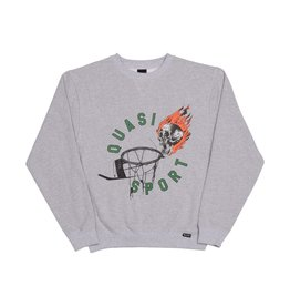 QUASI QUASI - BALL FLEECE CREW - GRY -
