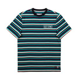 WELCOME WELCOME - SURF STRIPE KNIT - TEAL/BLK/BONE -