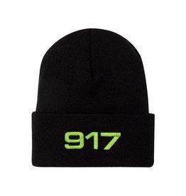917 917 - RACING BEANIE - BLK/SFTY GRN
