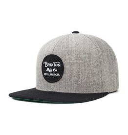 BRIXTON BRIXTON - WHEELER SNAPBACK - HEATHER/BLK