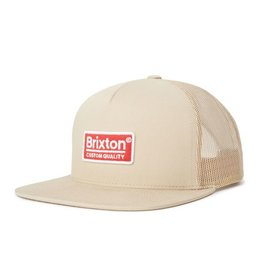 BRIXTON BRIXTON - PALMER MESH CAP - KHAKI/RED