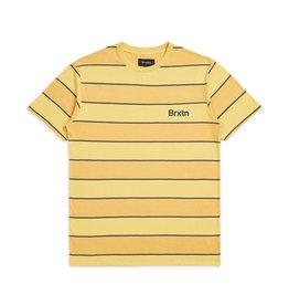 BRIXTON BRIXTON - HILT S/S KNIT - YLLW/NVY -