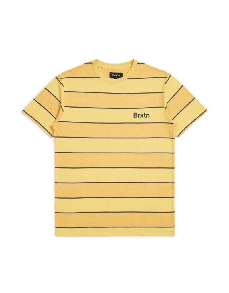 BRIXTON BRIXTON - HILT S/S KNIT - YELLOW/NAVY