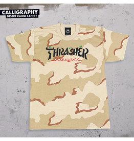 THRASHER THRASHER - CALLIGRAPHY S/S - CAMO -