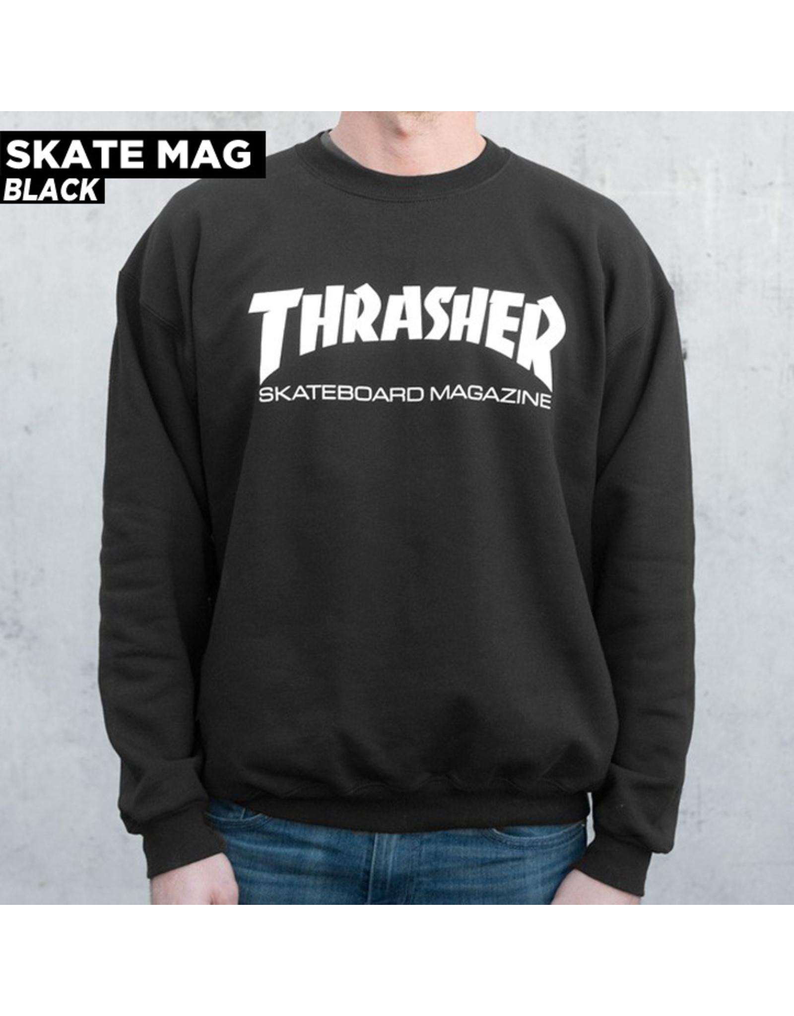 THRASHER THRASHER - SKATE MAG CREW - BLACK