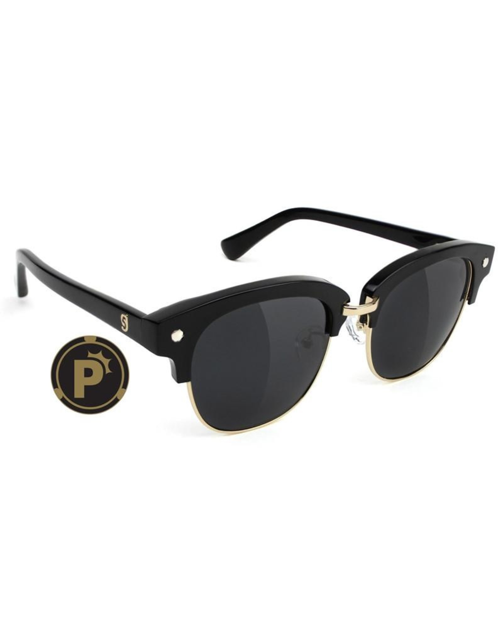 GLASSY GLASSY - CARRIE PLUS POLARIZED. - BLACK/GOLD