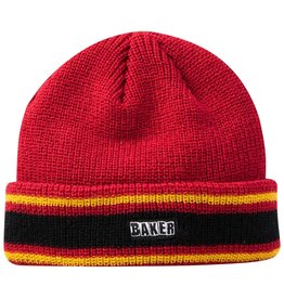 BAKER BAKER - DOVER BEANIE - RED/YLLW