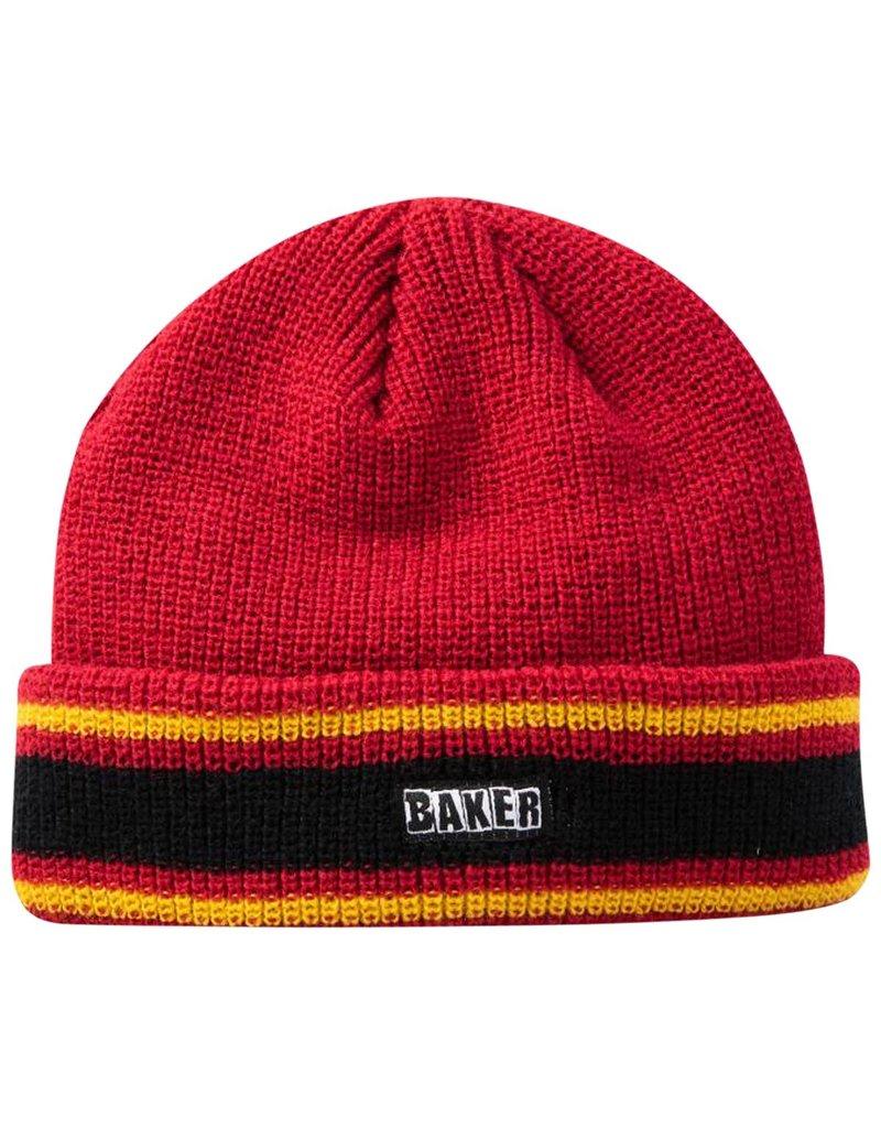 BAKER BAKER - DOVER BEANIE - RED/YELLOW