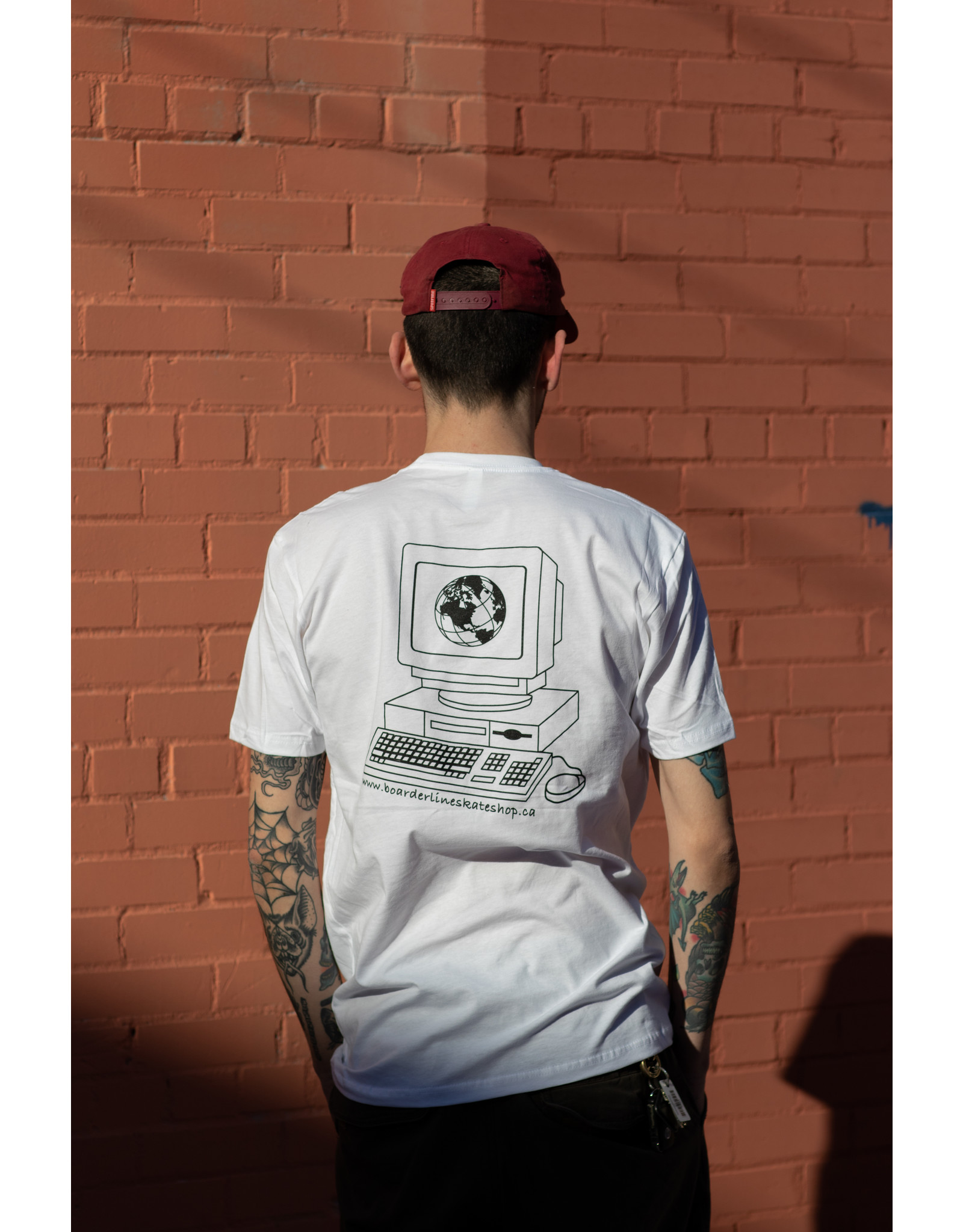 BOARDERLINE - ONLINE TEE - WHITE -