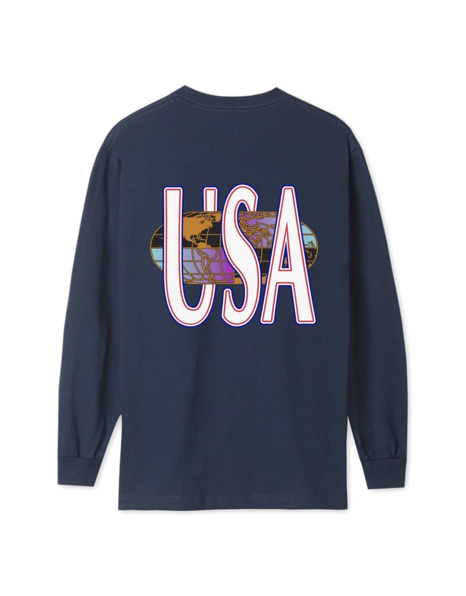 HUF HUF - QUAKE USA L/S - NAVY
