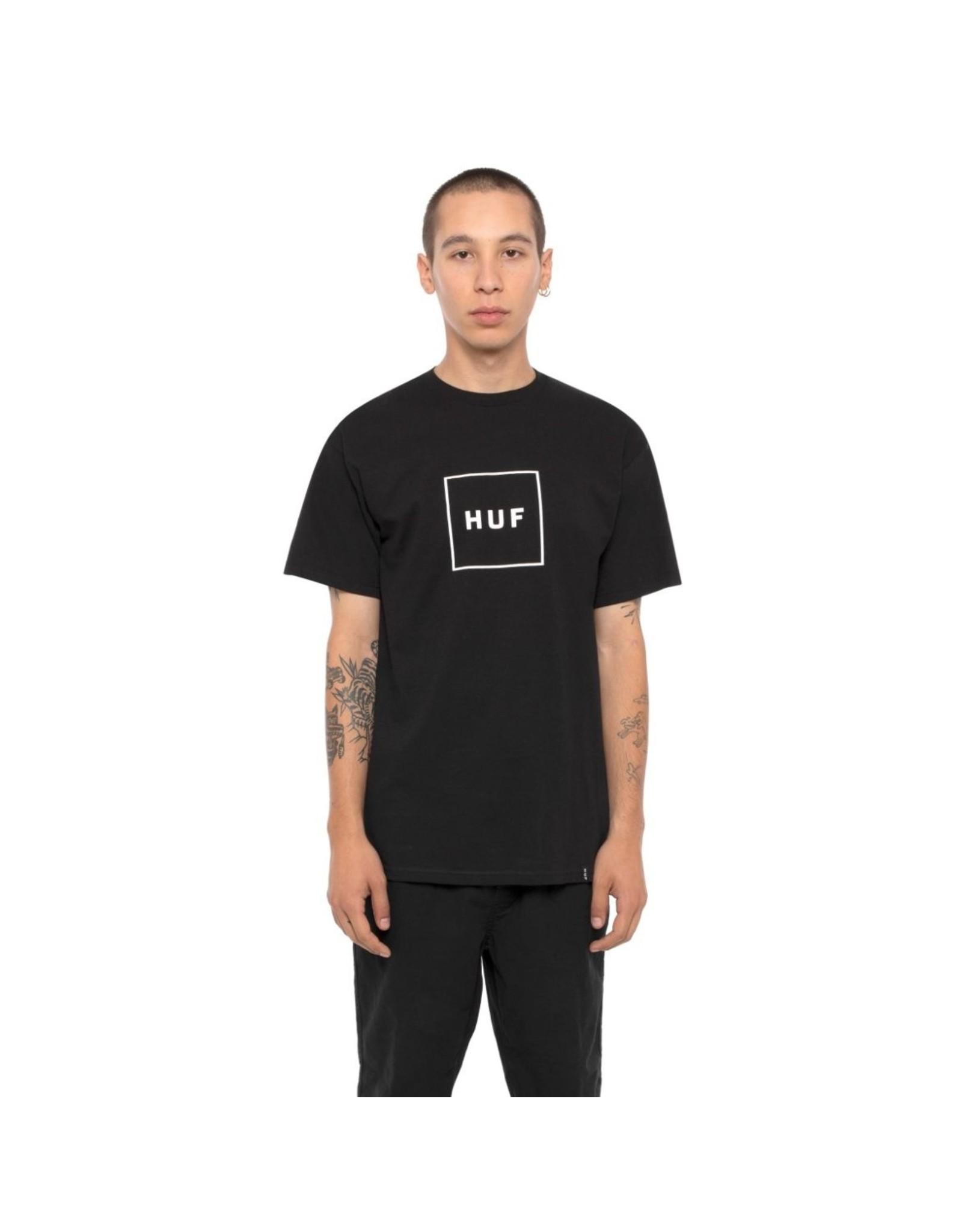 HUF HUF - ESSENTIAL BOX LOGO TEE - BLACK