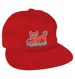 TOY MACHINE TOY MACHINE - DEVIL CAT HAT - RED