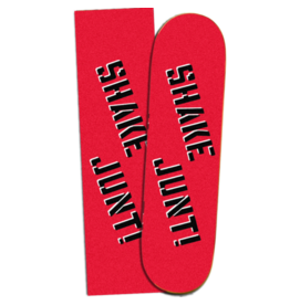 SHAKE JUNT SHAKE JUNT - RED/BLACK GRIP - 9""