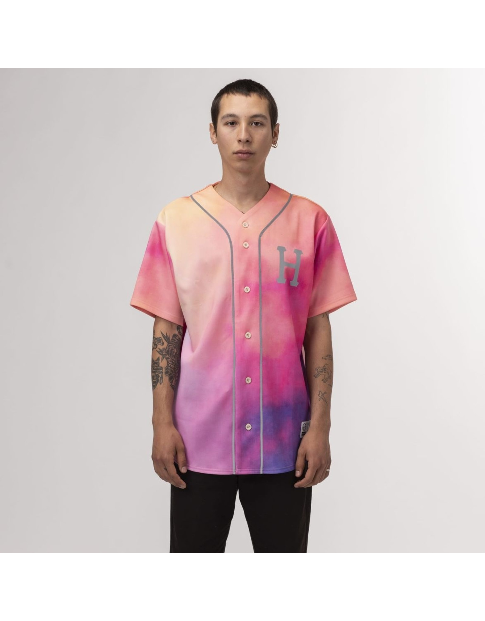 HUF HUF - CLASSIC REFLECTIVE  JERSEY - CORAL - L