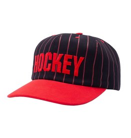 HOCKEY HOCKEY - STRIPED 5-PANEL - BLK/RED