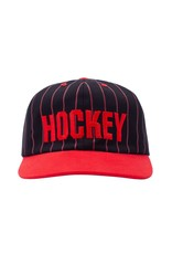 HOCKEY HOCKEY - STRIPED 5-PANEL - BLACK/RED