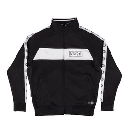 WELCOME WELCOME - TALISMAN TRACK JACKET - BLK/WHT - M