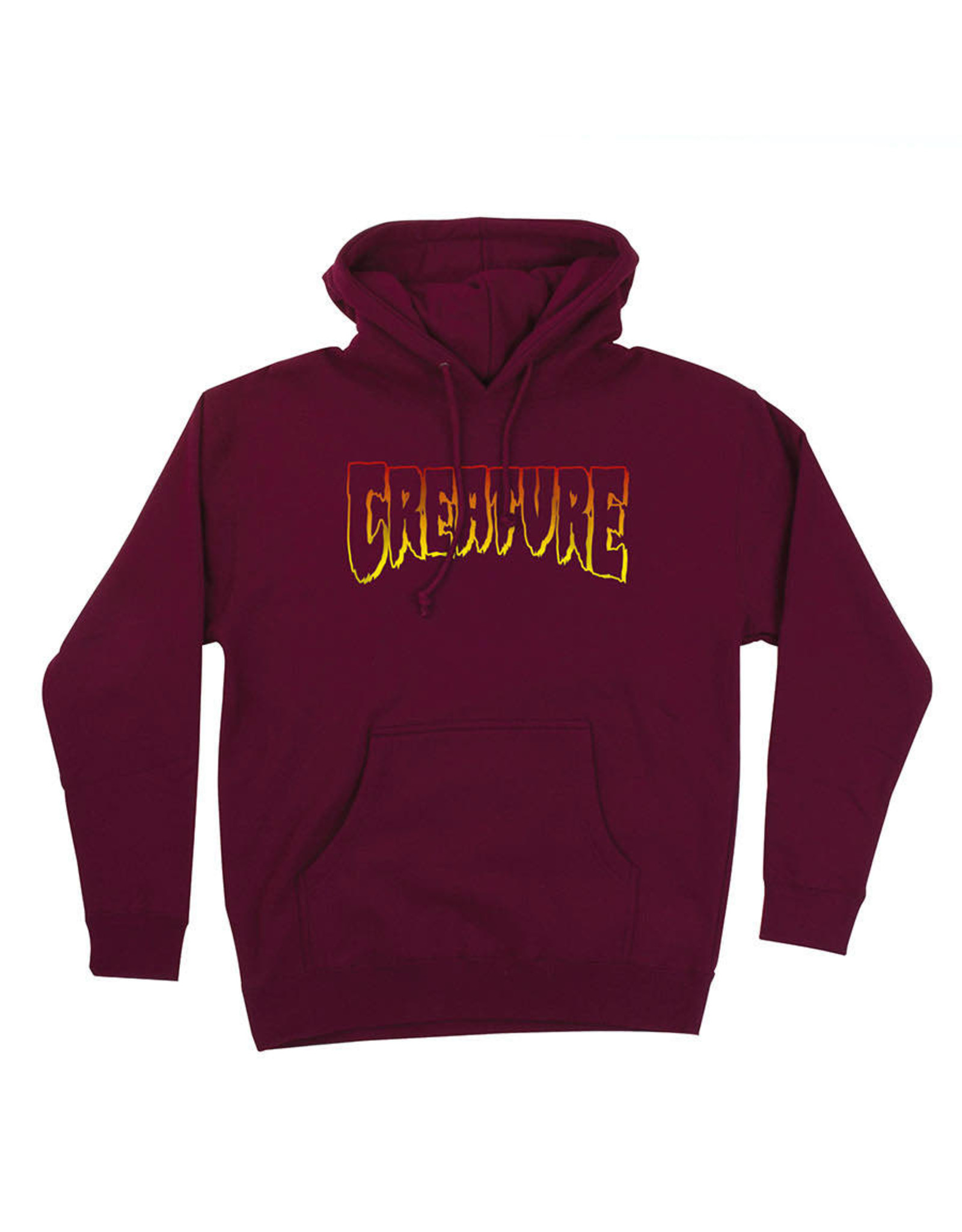 CREATURE CREATURE - CREATURE OUTLINE HOODIE - BURGUNDY -