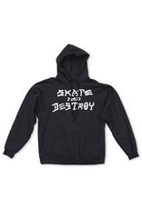 THRASHER THRASHER - SKATE & DESTROY HOODIE - BLACK -