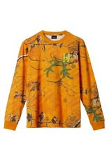 HUF HUF - REALTREE L/S - ORANGE -
