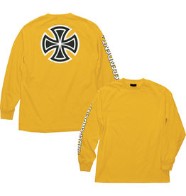 INDEPENDENT INDEPENDENT - BAR/CROSS L/S - GOLD -