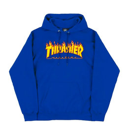 THRASHER THRASHER - FLAME LOGO HOODIE - ROYAL -