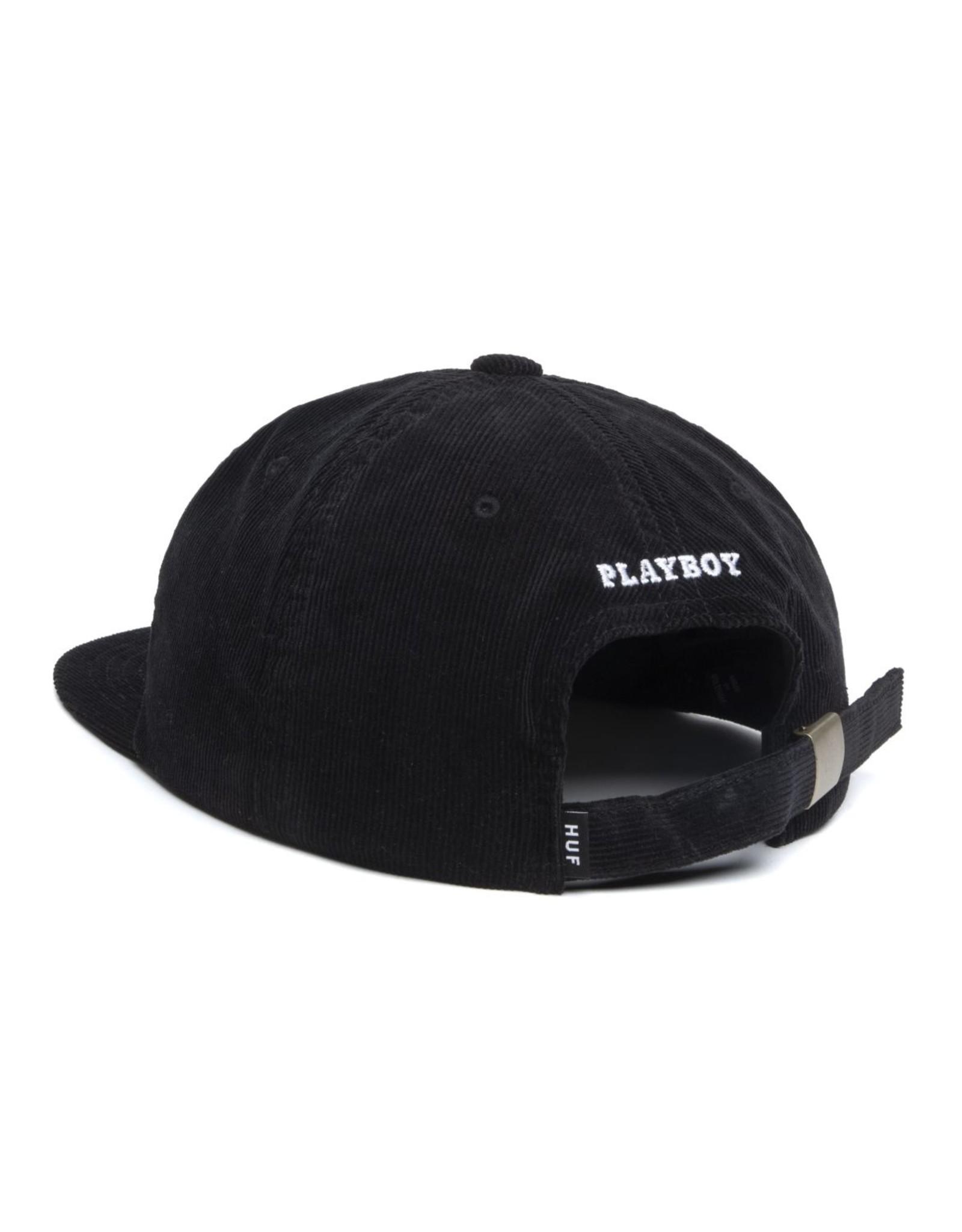 HUF HUF - PLAYBOY CORD. 6 PANEL - BLACK