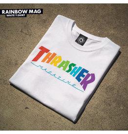 THRASHER THRASHER - RAINBOW MAG TEE - WHT -