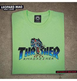 THRASHER THRASHER - LEOPARD MAG TEE - MINT -