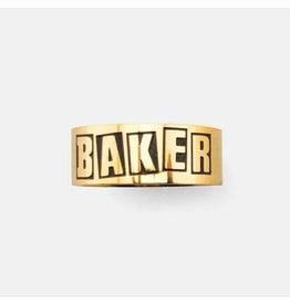 BAKER BAKER - BRAND LOGO RING - GLD - S