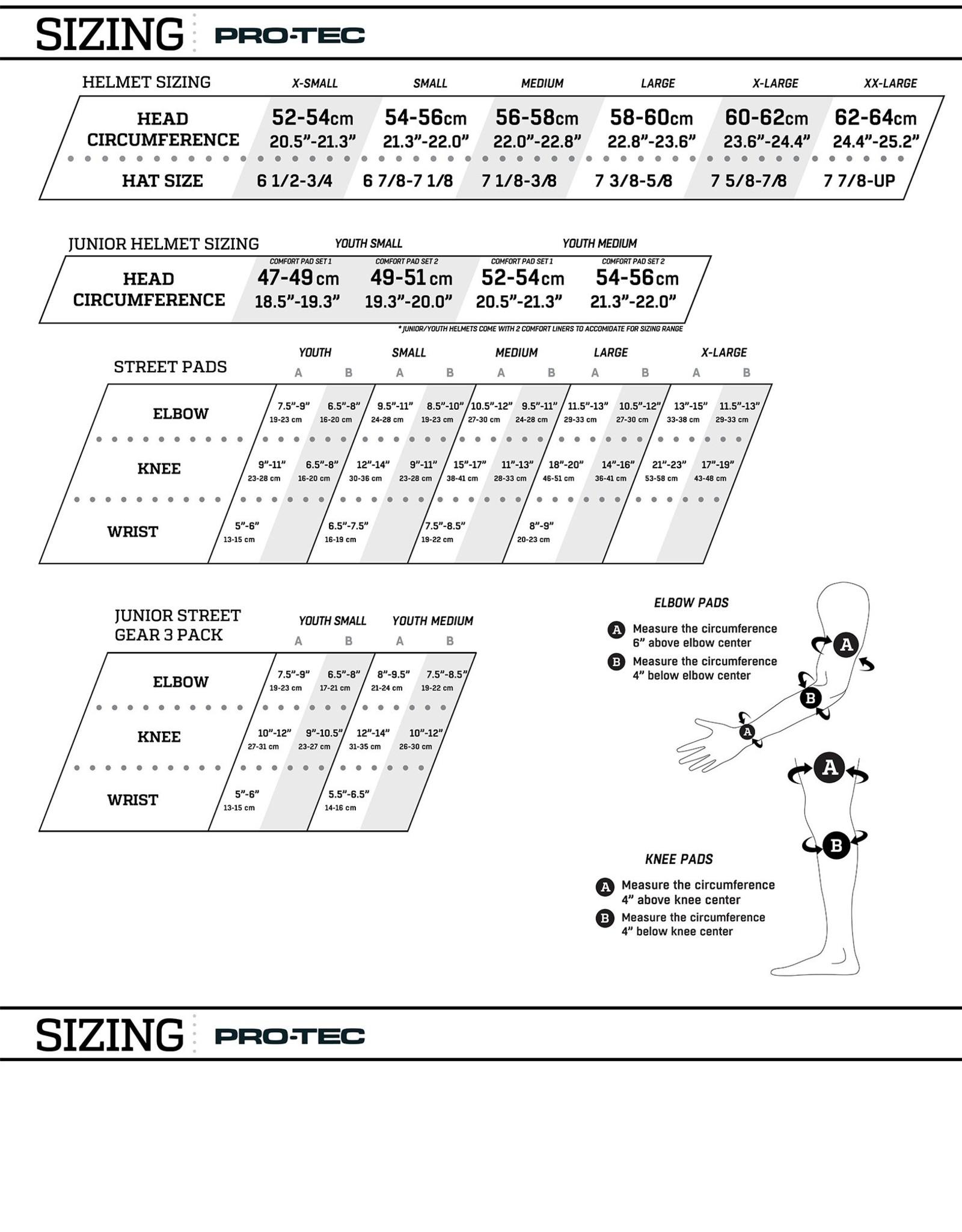 PRO-TEC PRO-TEC - JUNIOR 3-PACK PADS - CHECKER - SM