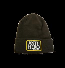 ANTIHERO ANTIHERO - RESERVE PATCH CUFF BEANIE BRWN/WHT