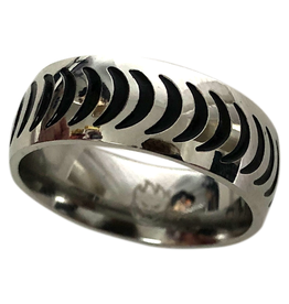 SPITFIRE SPITFIRE - CRESCENT RING STAINLESS STEEL